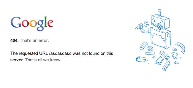 Lỗi 404 khi duyệt web