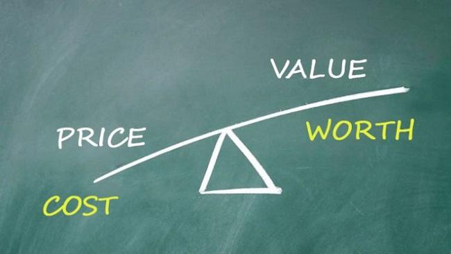 phan biet cost value worth price
