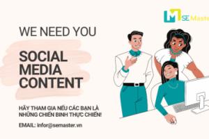 SE Master Solutions tuyen dung social media content